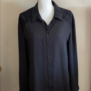 Chico's Black Blouse with Lace